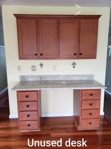 BEFORE:  Unused desk