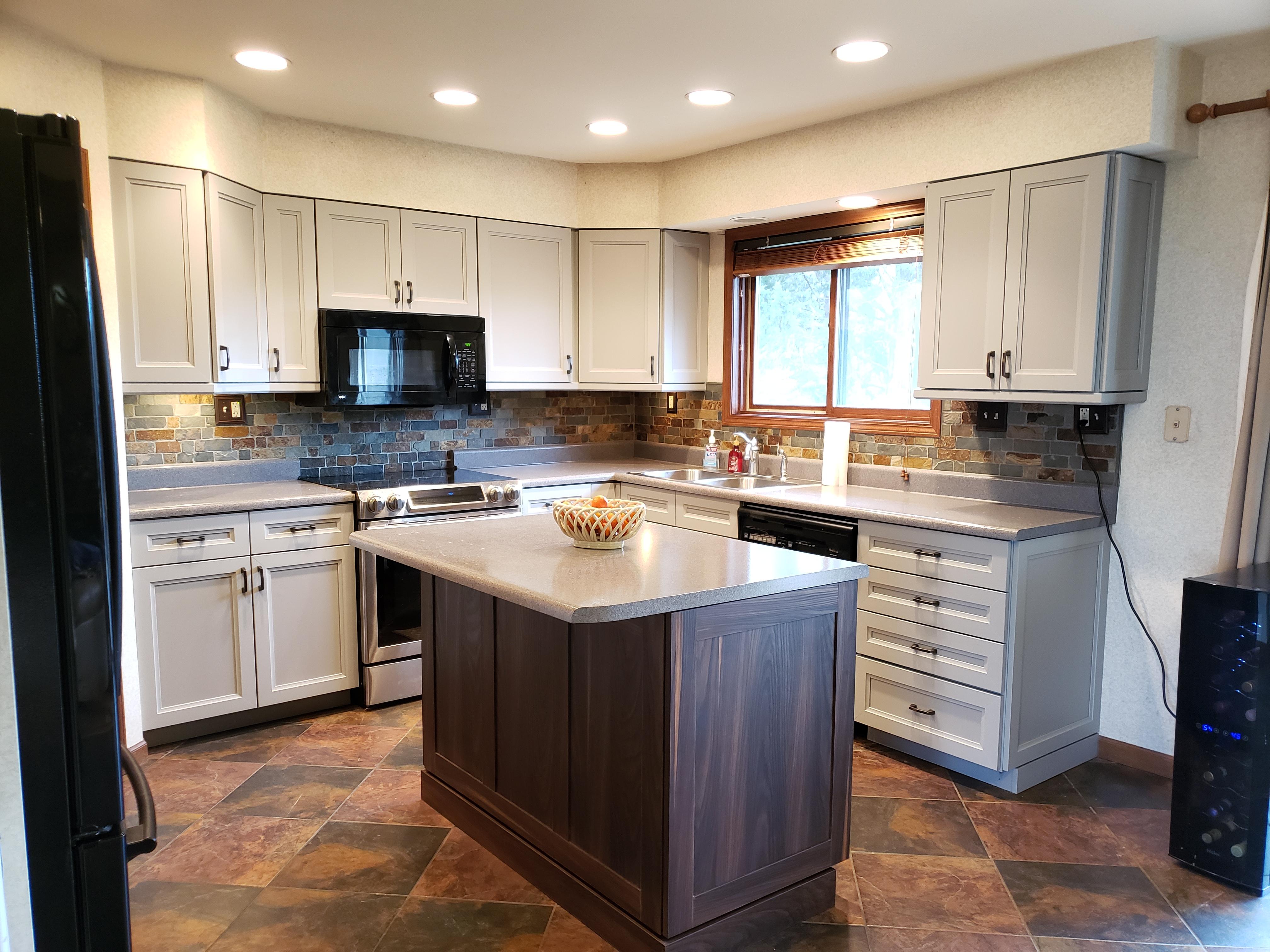 Replace Dated Oak Kitchen Doors To Gray Shaker Doors Video